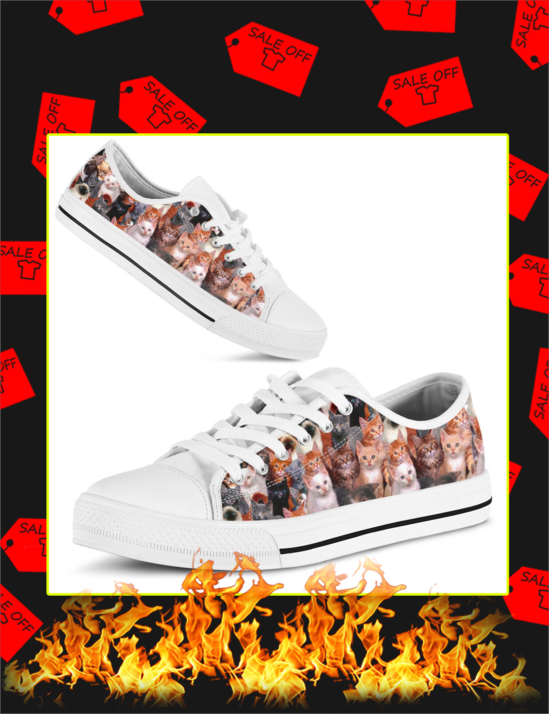 Lots Of Cats Low Top Shoes - Picture 2