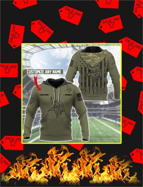Minnesota Vikings Custom Name Personalize Hoodie