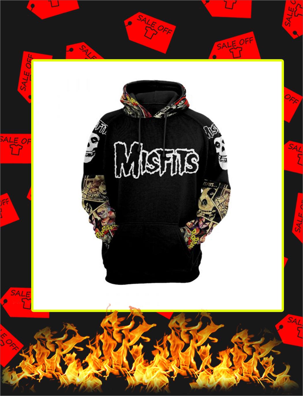 Misfits Cartoon 3d hoodie- front