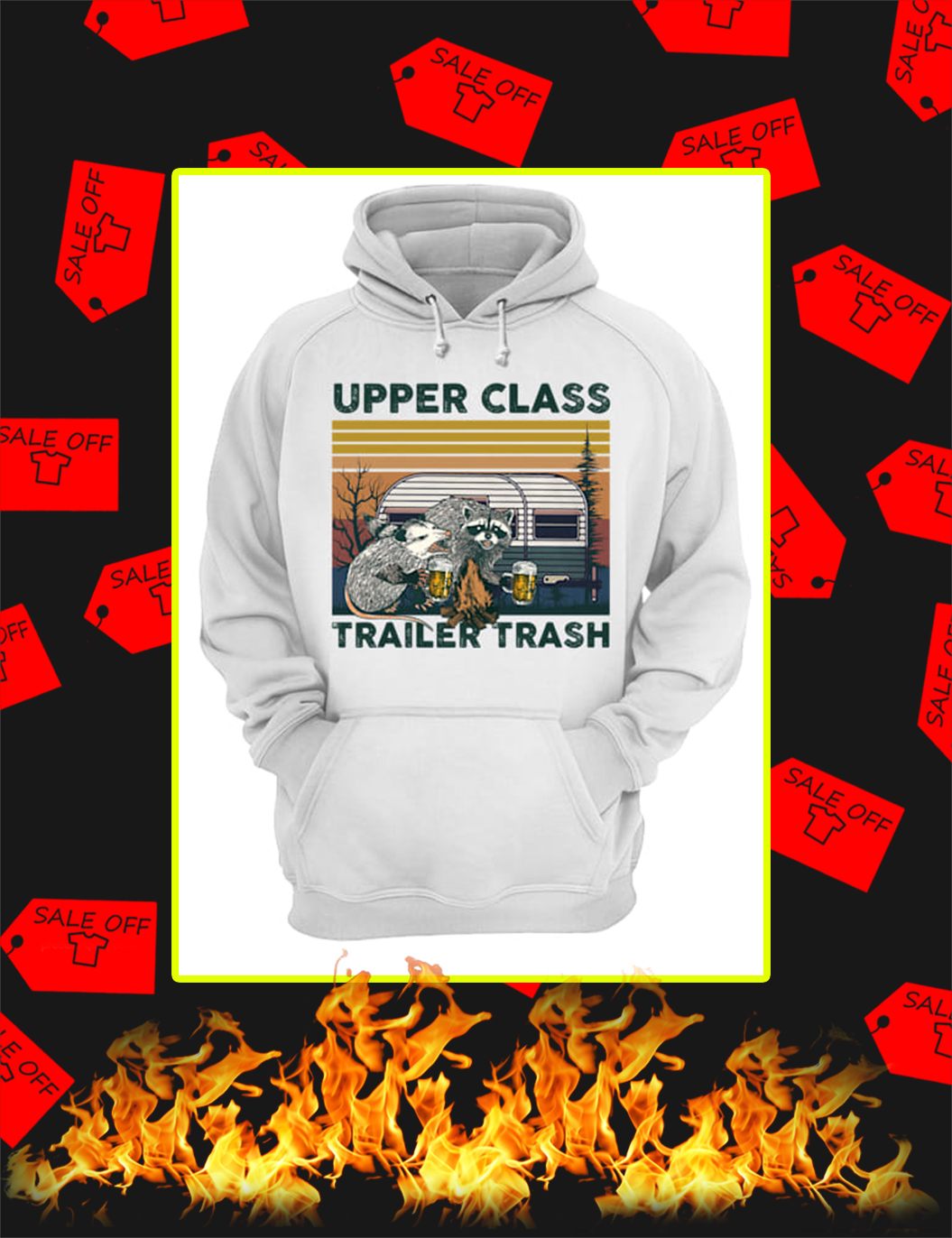 Opossum and Raccoon Upper Class Trailer Trash hoodie