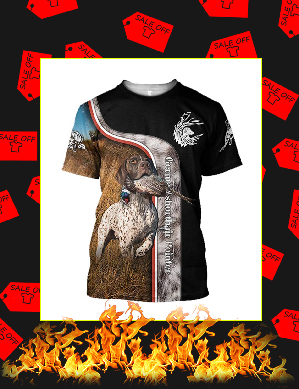 Pheasant Hunting German Shorthaired Pointer 3D All Over Printed Shirt