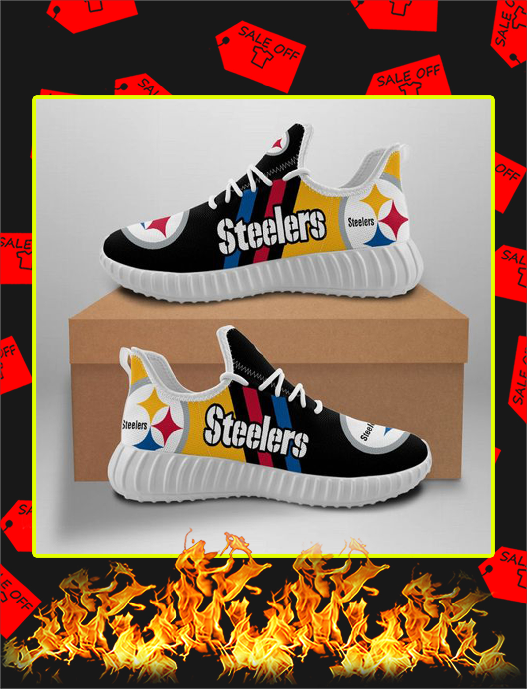Pittsburgh Steelers Yeezy Sneaker- white
