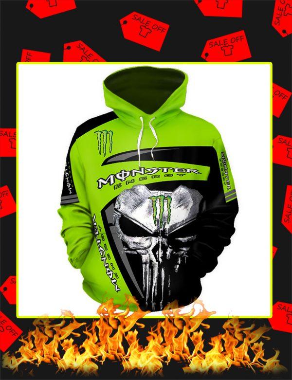 Punisher Skull Monster Energy Full Printing hoodie