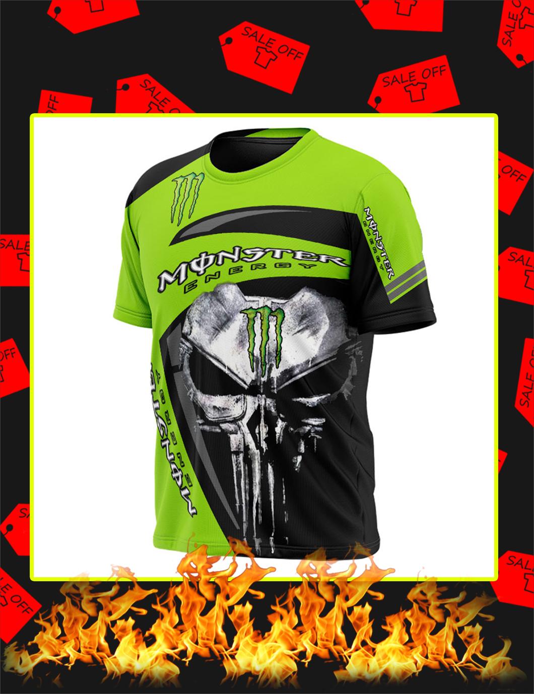 Punisher Skull Monster Energy Full Printing shirt