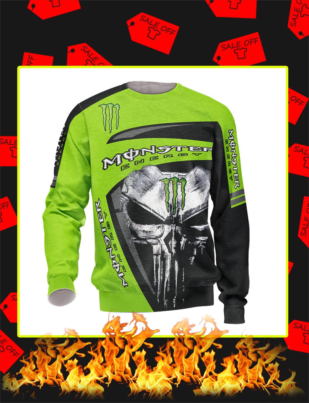 Punisher Skull Monster Energy Full Printing sweatshirt