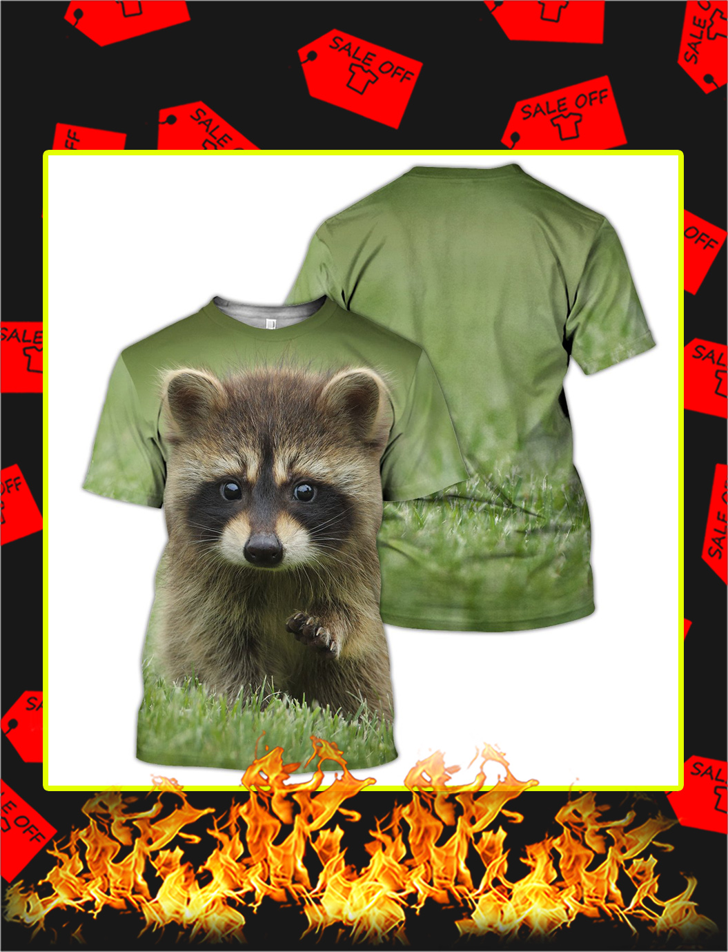 Raccoon 3d All Over Printed shirt