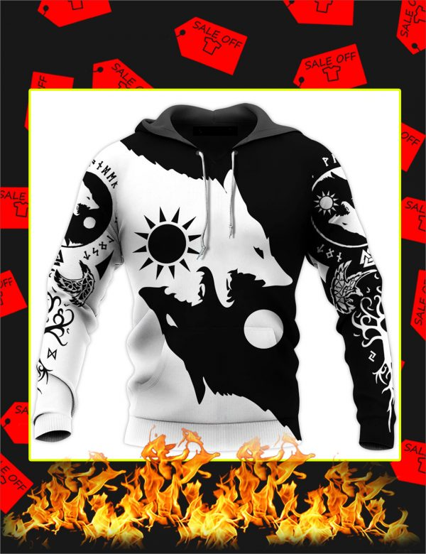 Skoll and Hati 3D All Over Printed hoodie
