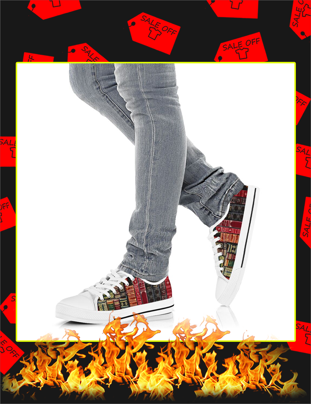 Spine Book Low Top Shoes - Picture 2
