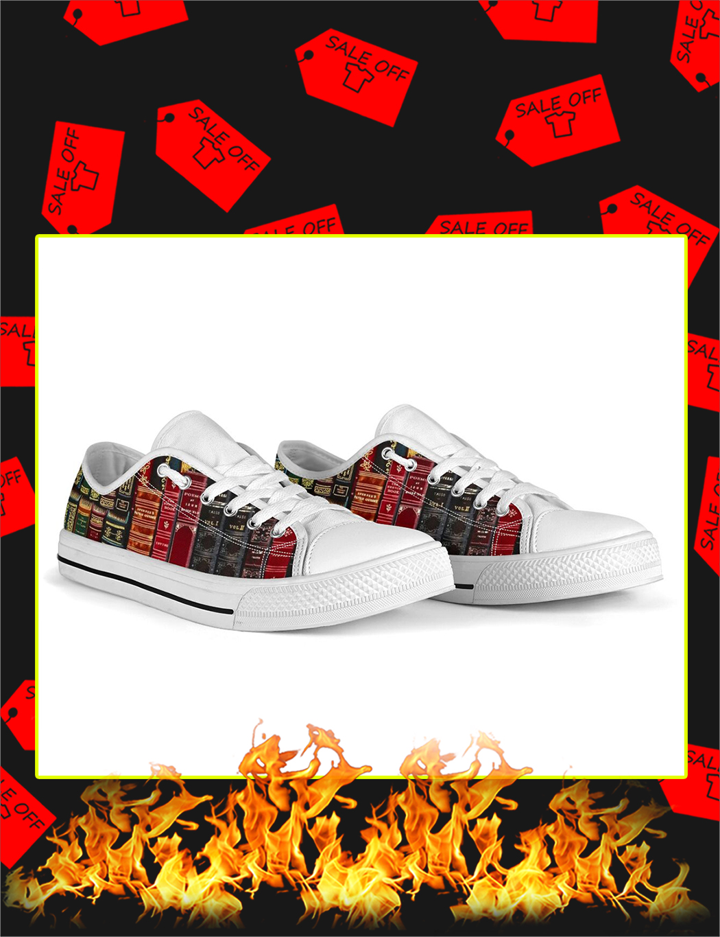 Spine Book Low Top Shoes - Picture 3
