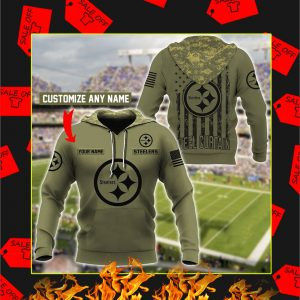Steelers Customize Custom Name 3D Hoodie