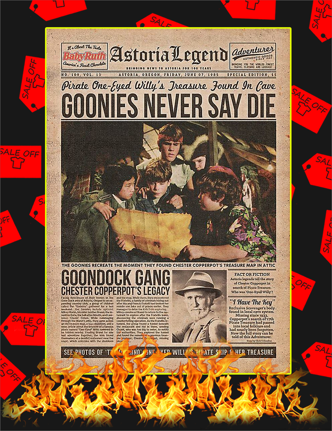 The Goonies Newspaper Poster - A3
