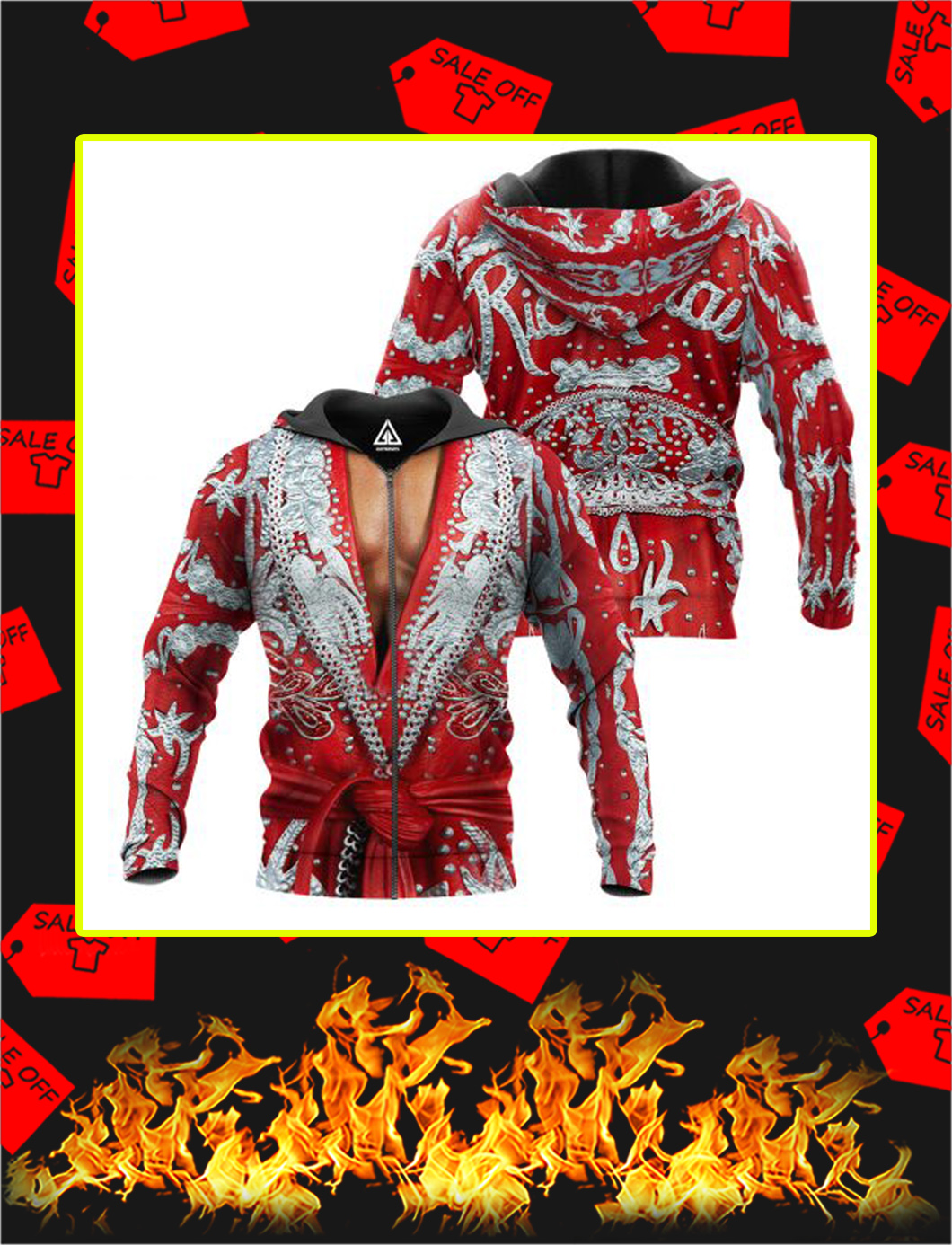 The Nature Boy Robe 3D All Over Printed zip hoodie