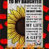 To My Daughter Love Dad Sunflower Poster