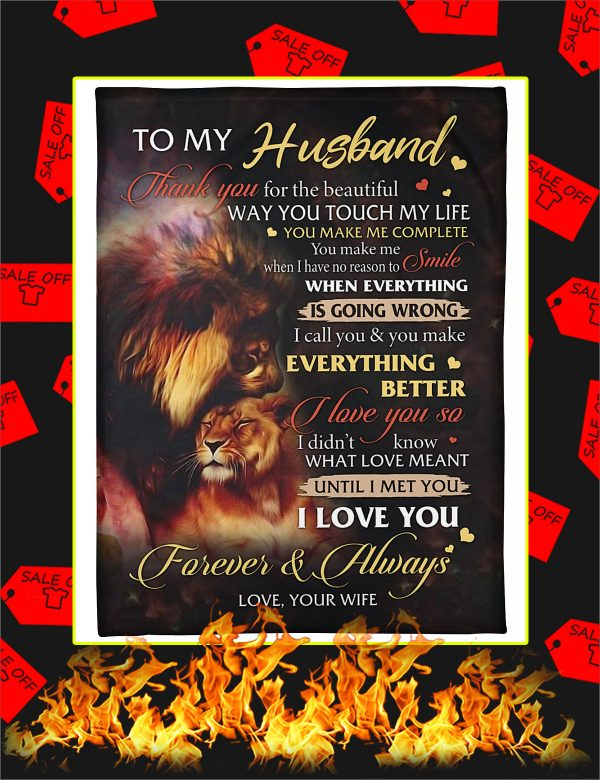 To My Husband Lion Wife Blanket