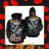 Valentine His Queen Couple Skull 3d Hoodie
