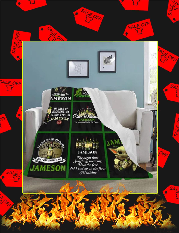 Walt Whiskey Jameson Yoda Grinch Blanket - Large
