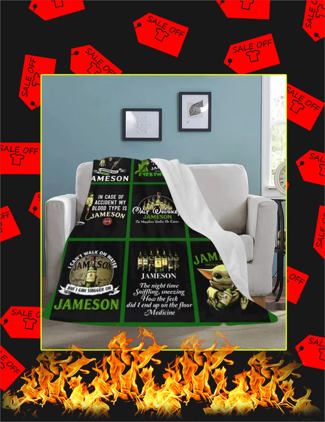 Walt Whiskey Jameson Yoda Grinch Blanket - Youth