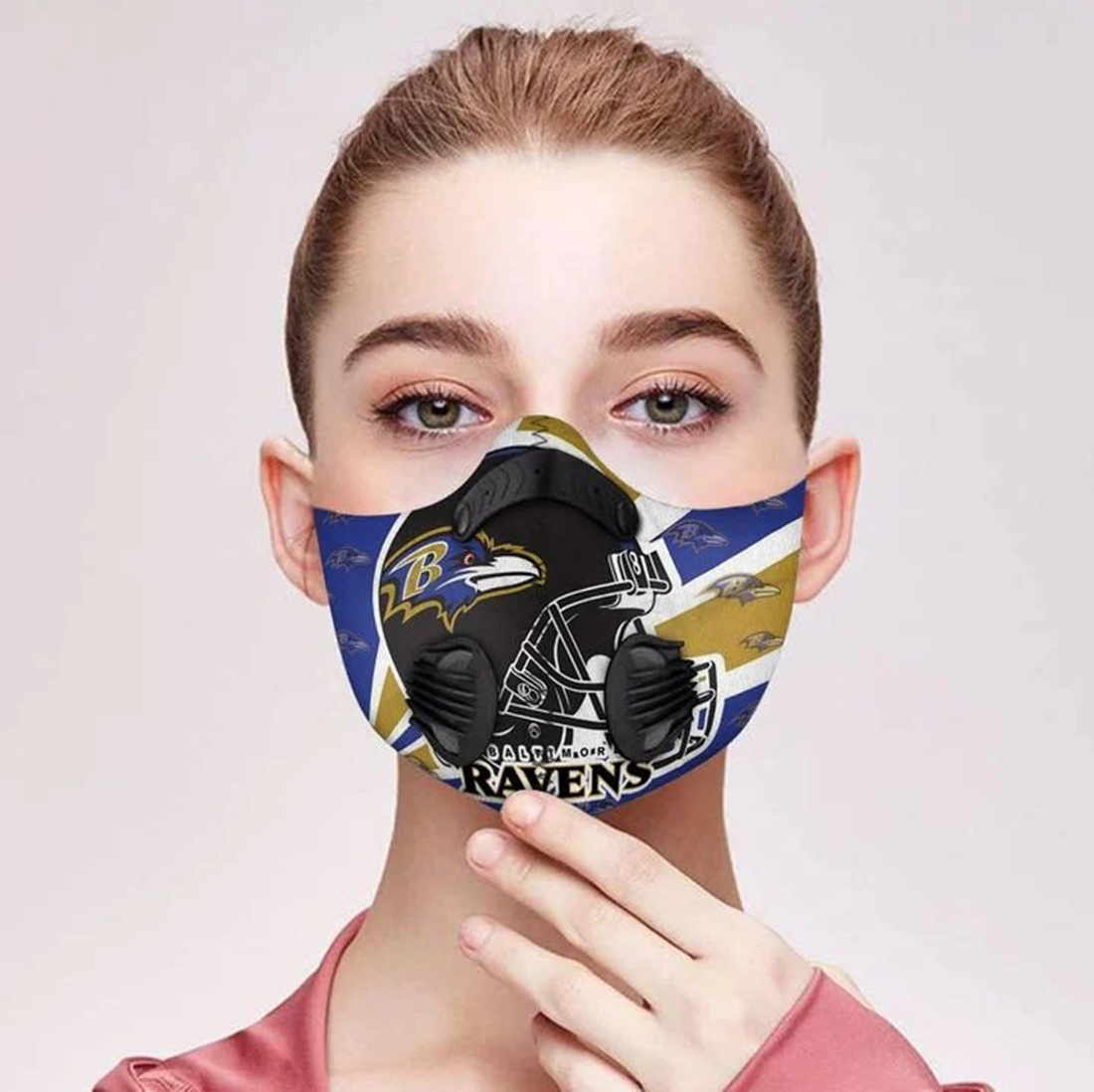 Baltimore ravens filter face mask - Picture 1