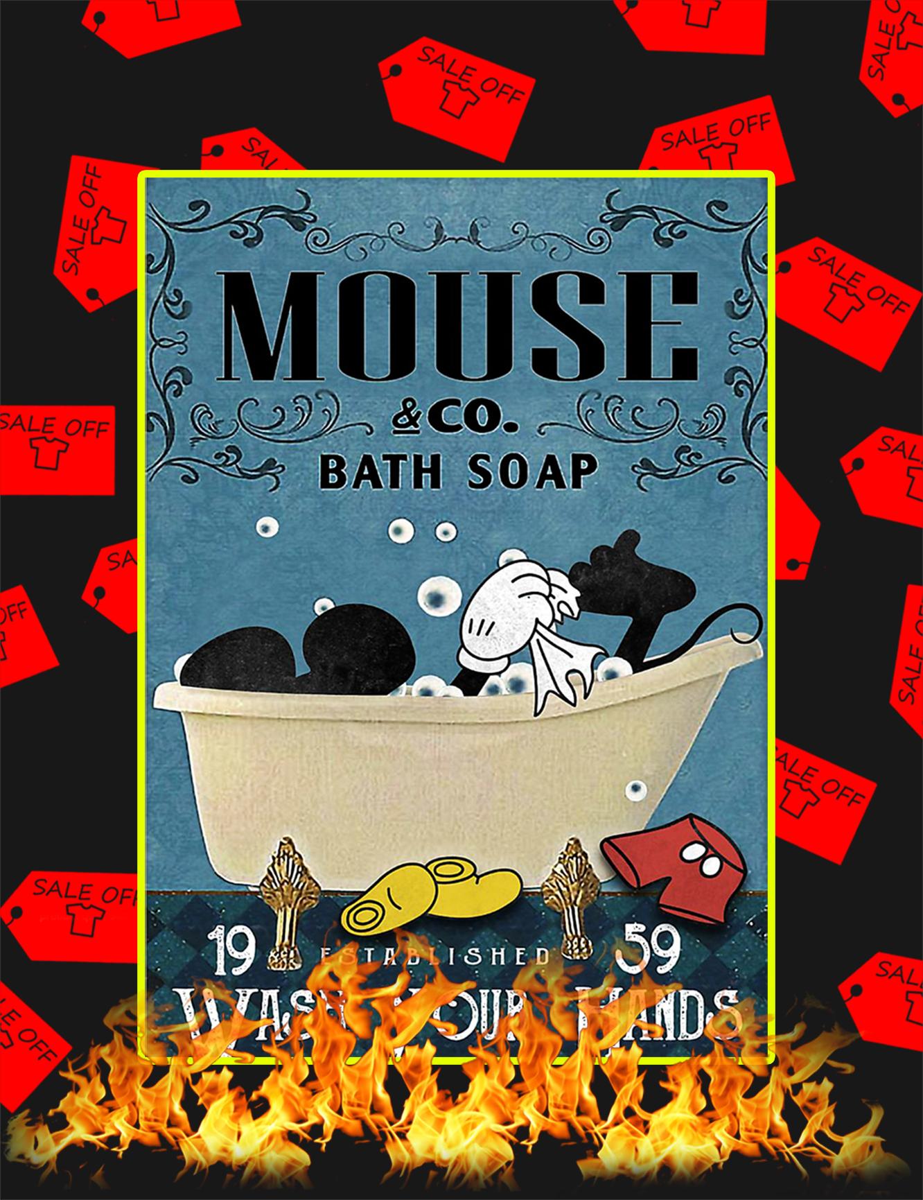 Bath soap company mickey mouse poster a4