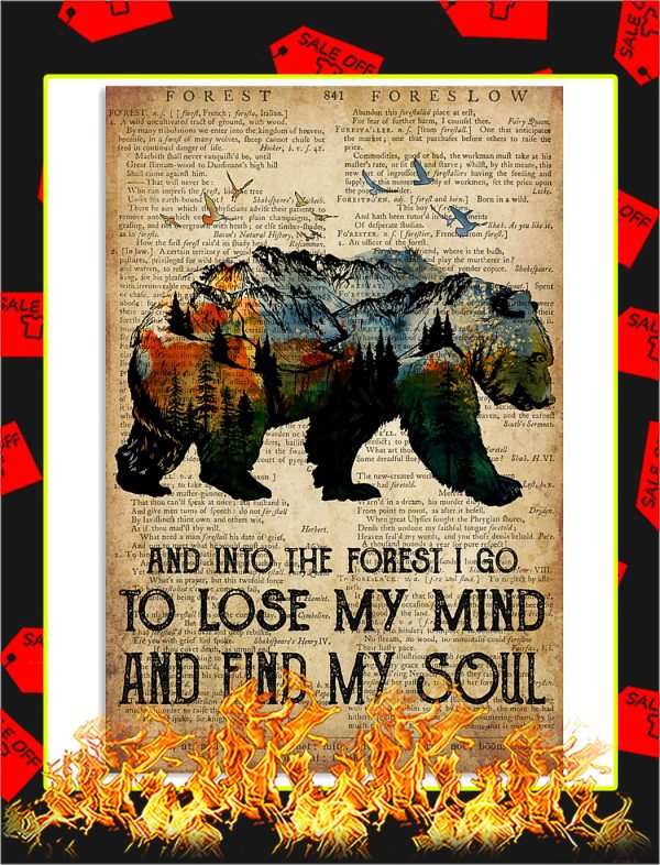 Bear Camping And Into The Forest Poster
