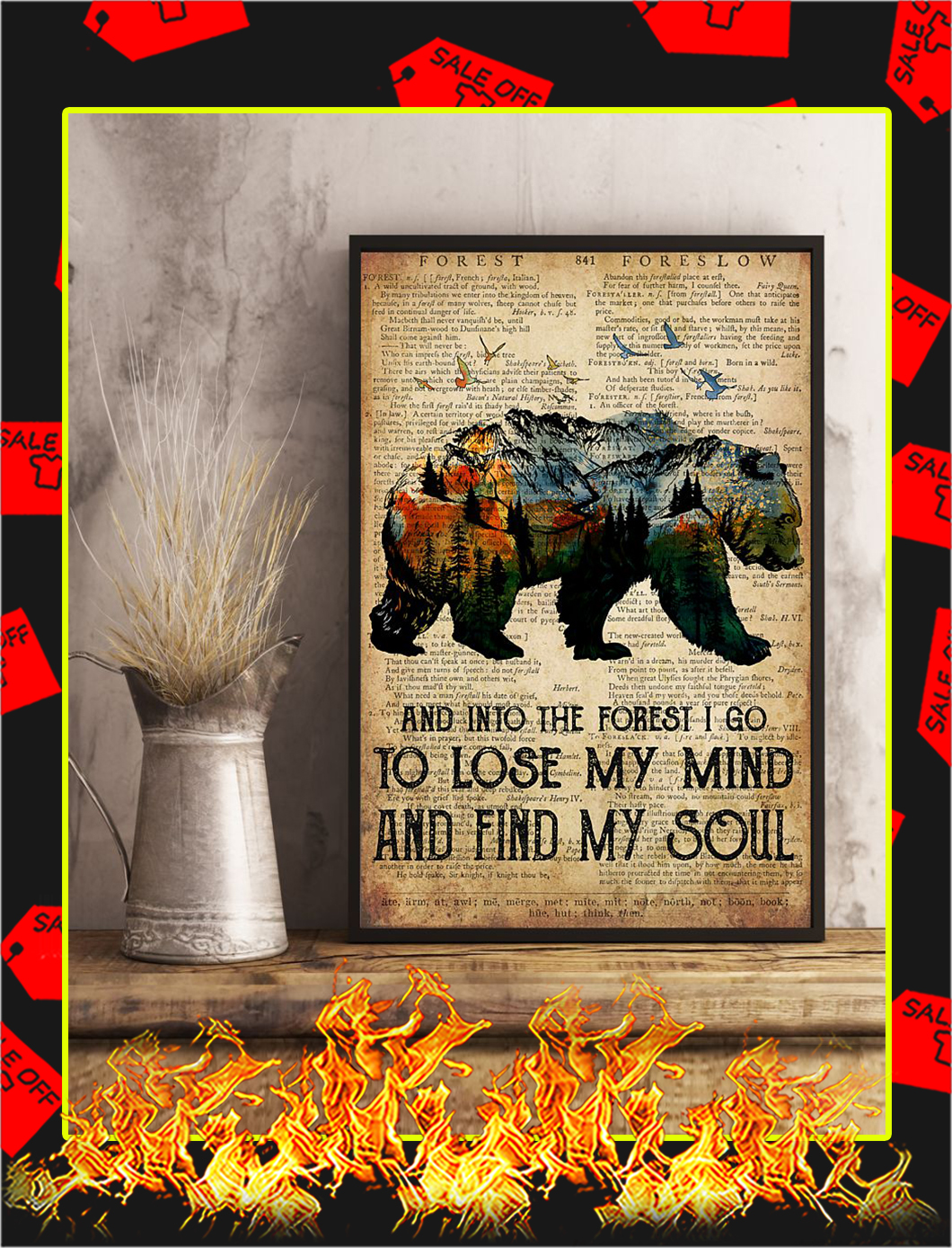 Bear Camping And Into The Forest Poster- A4