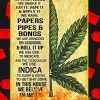 Cannabis In this house we smoke it eat it poster