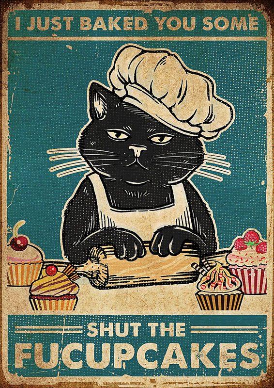 Cat Shut The Fucupcakes Poster