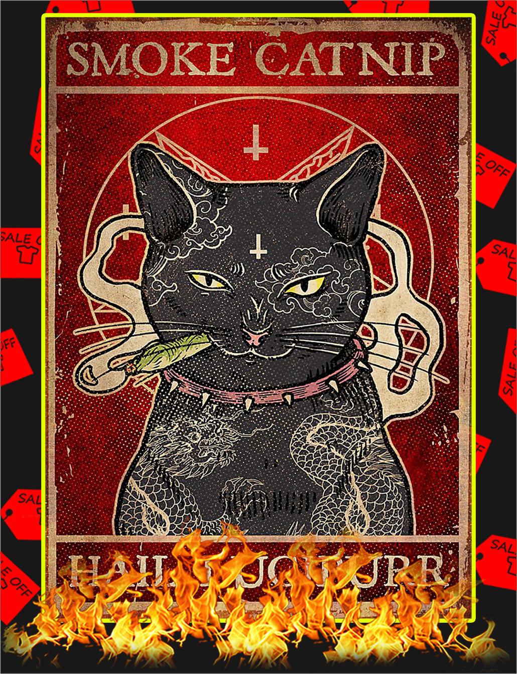 Cat Smoke catnip hail lucipurr poster - A4