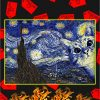 Cat The Starry Night Van Gogh Poster