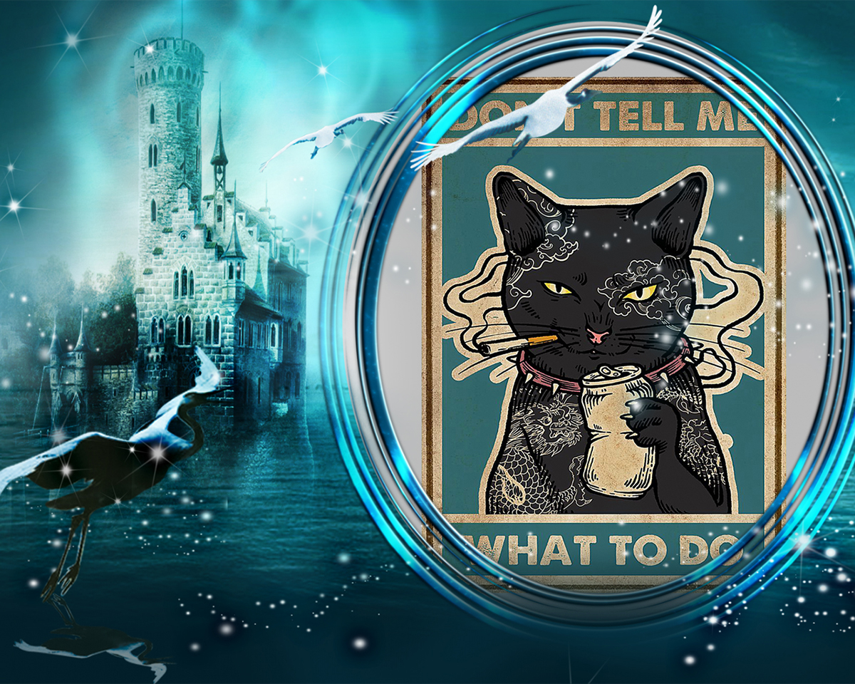 Cat don't tell me what to do Poster-A1