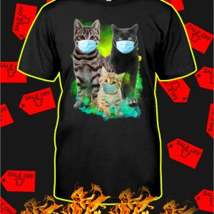 Cats wear mask covid 19 shirt