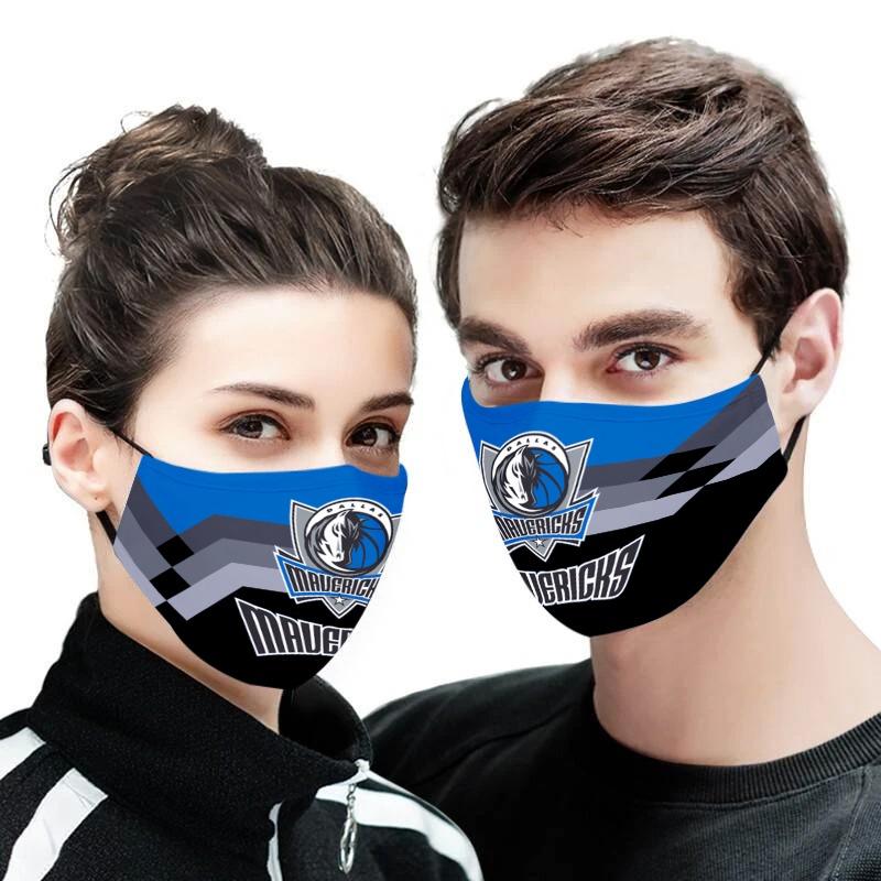 Dallas Mavericks NBA face mask - Picture 1