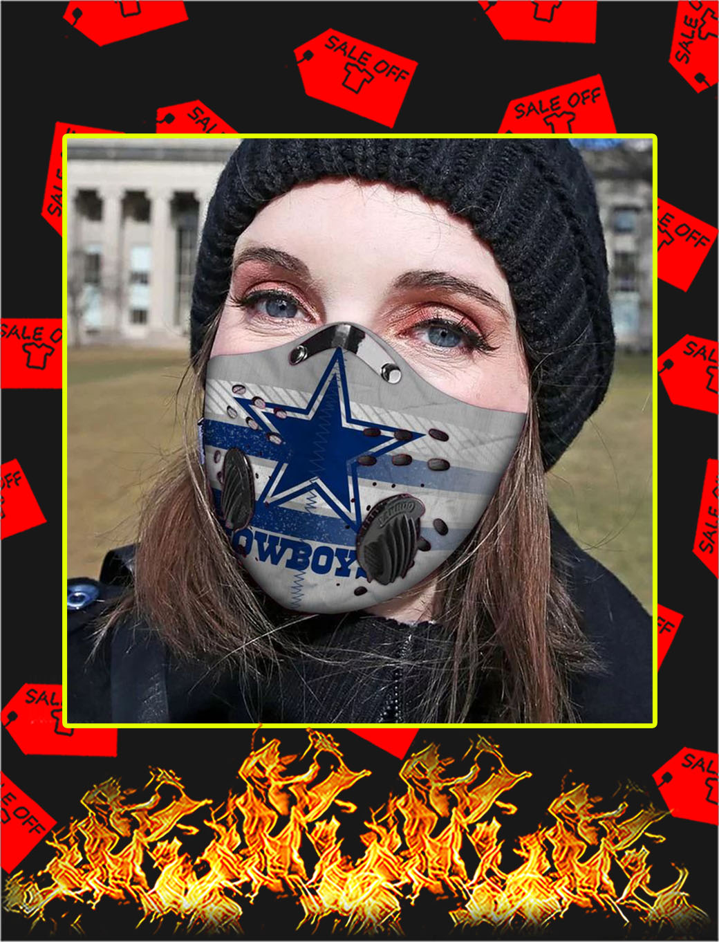 Dallas cowboys filter face mask- pic 1