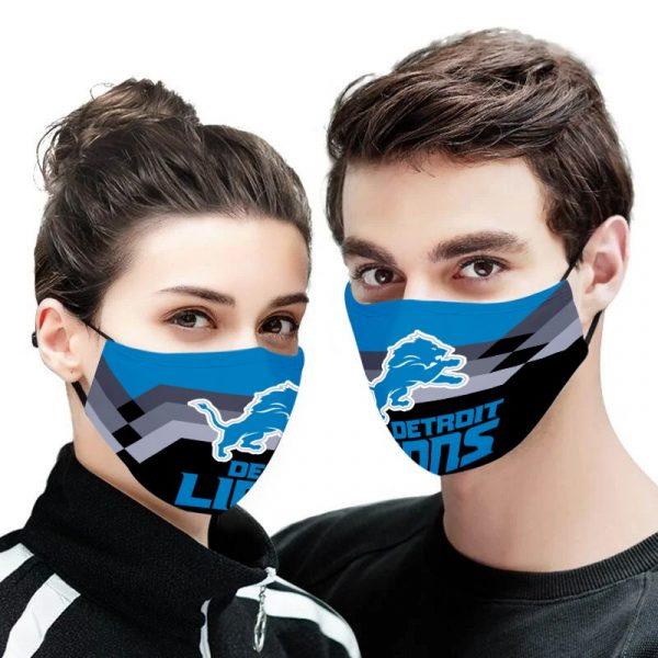 Detroit lions face mask