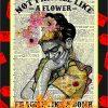 Frida Kahlo Not fragile like a flower fragile like a bomb poster