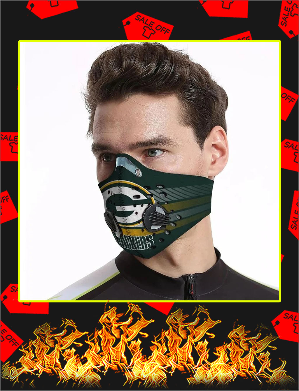 Green bay packers filter face mask- pic 1Green bay packers filter face mask- pic 1