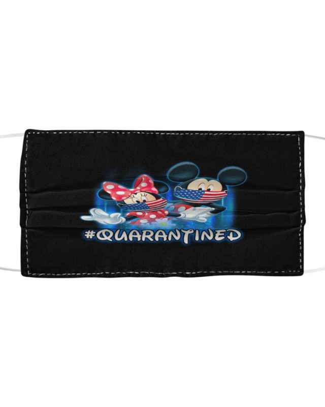 Mickey and minnie quarantined cloth face mask