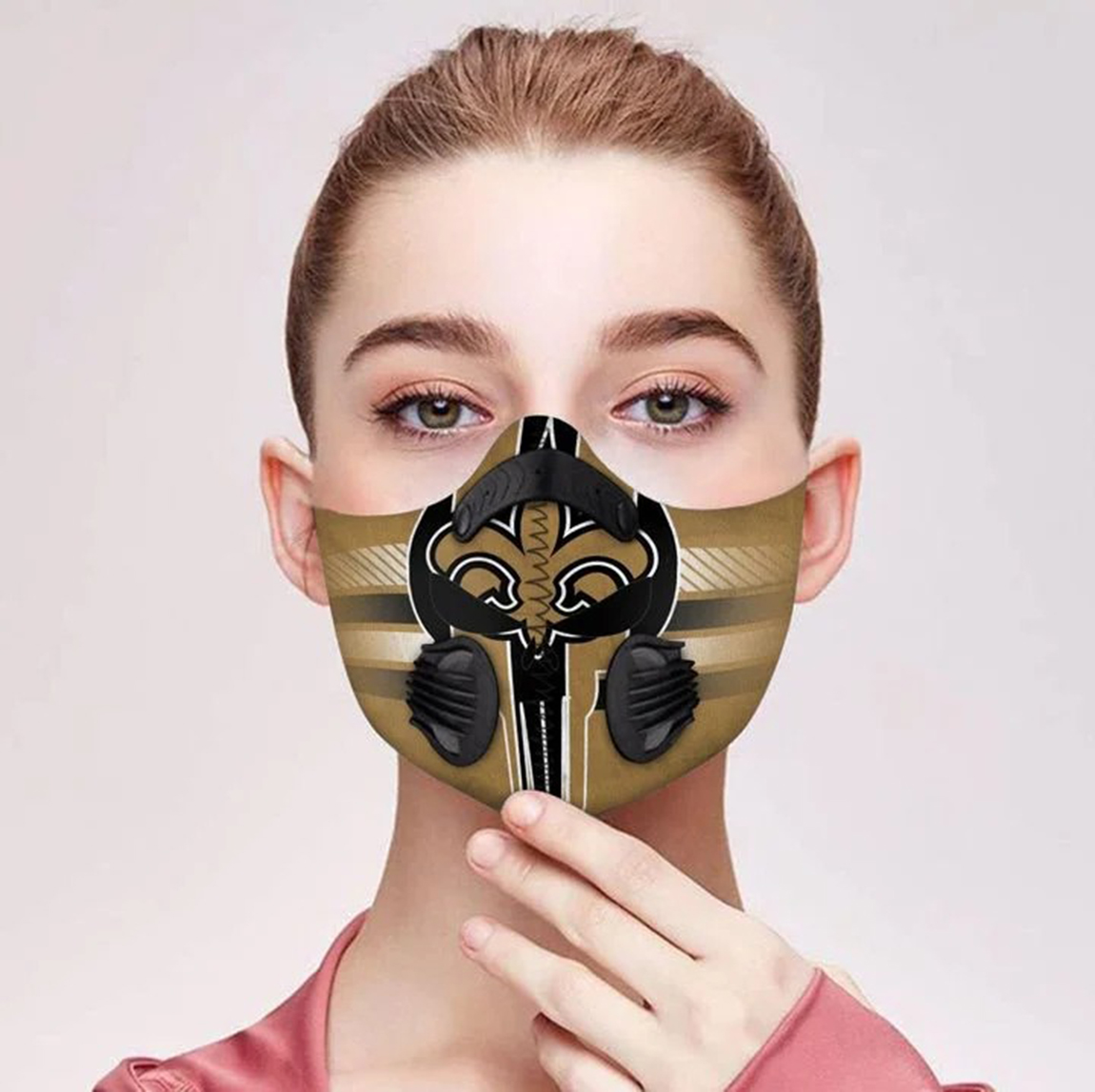 New orleans saints punisher skull filter face mask - Picture 1
