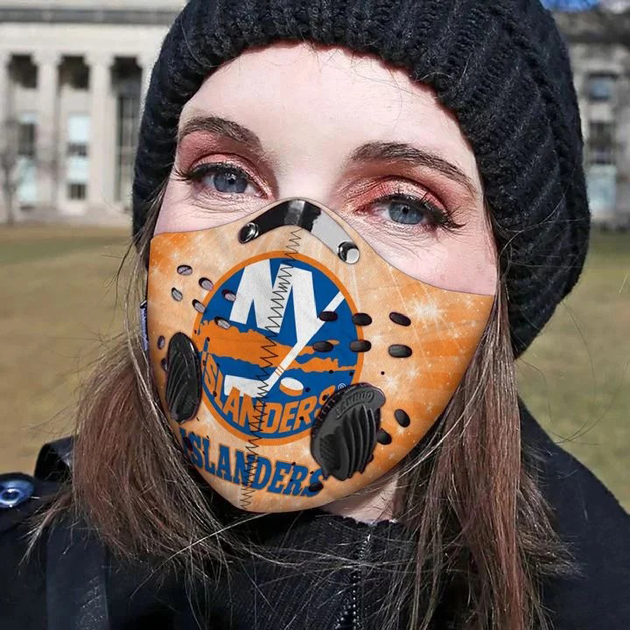 New york islanders filter face mask - Picture 1