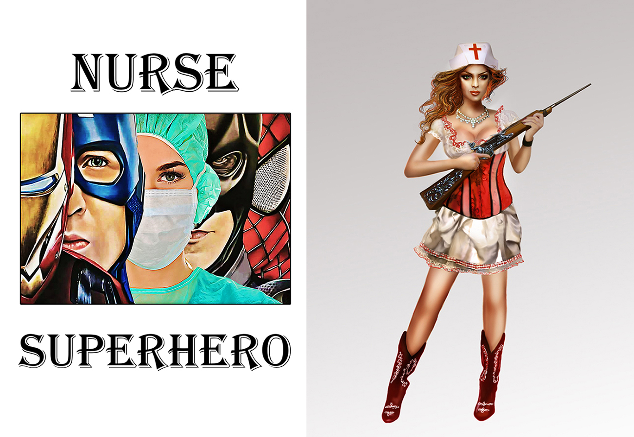 Nurse Superheroes Iron Man Poster a3
