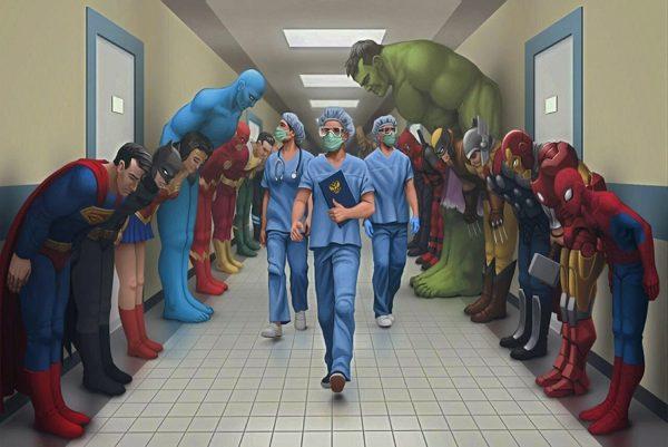 Nurse all superheroes poster
