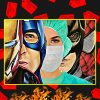 Nurse iron man captain america batman spider man poster