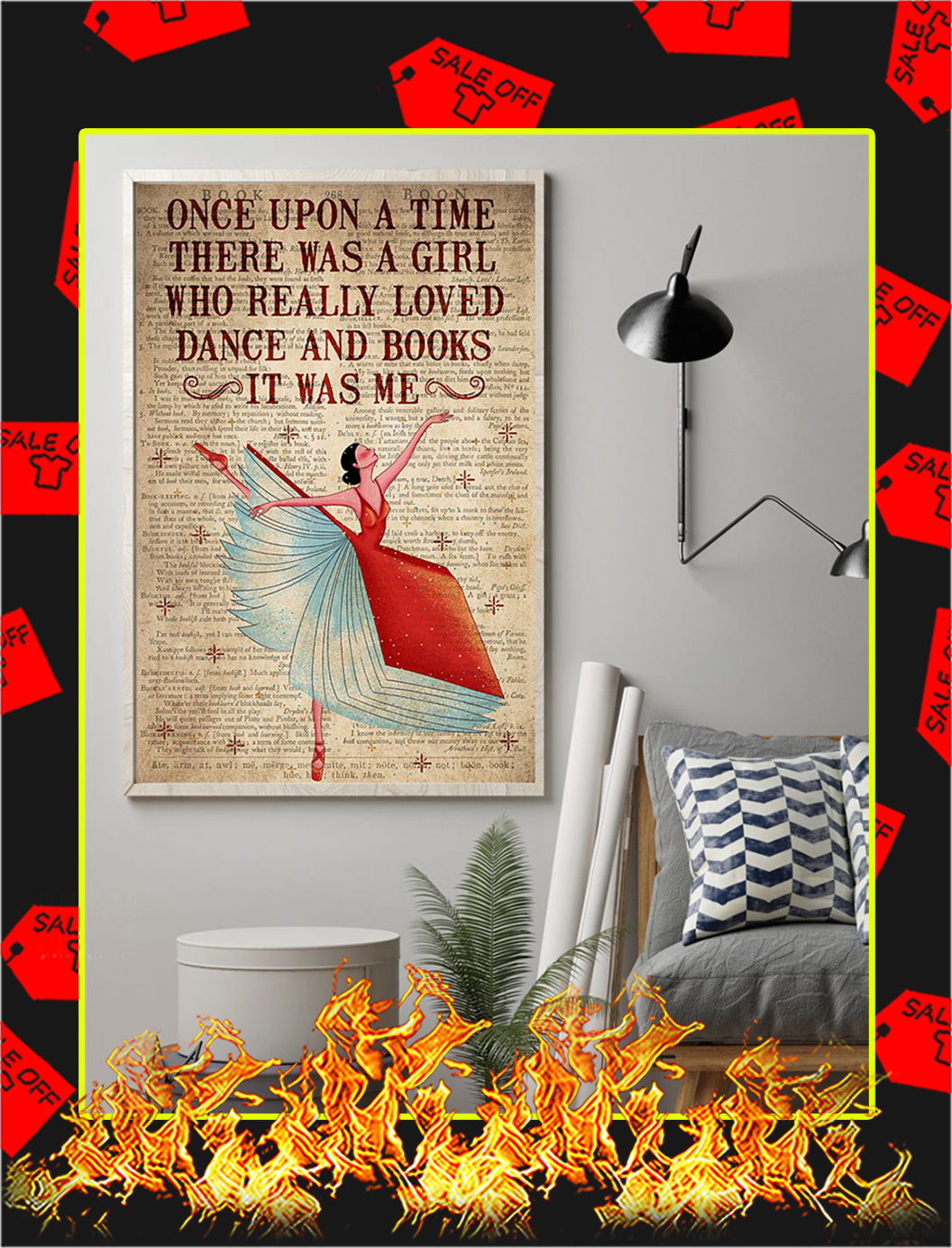 Once Upon A Time There Was A Girl Loved Dance and Books Poster- A1Once Upon A Time There Was A Girl Loved Dance and Books Poster- A1