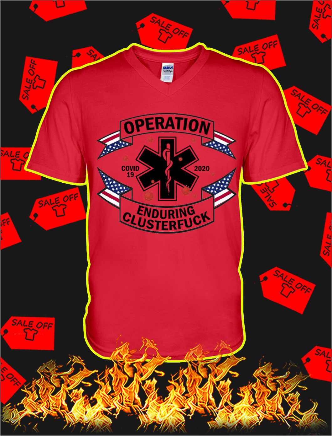 Operation enduring clusterfuck covid 19 2020 v-neck