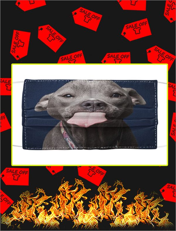 Pitbull dog face mask