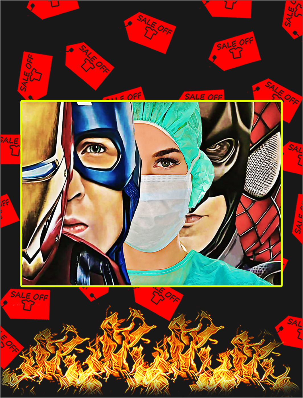 Poster Nurse Superhero - A2