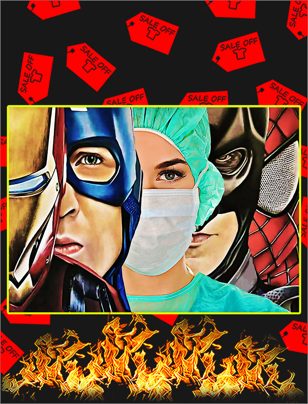 Poster Nurse Superhero - A4