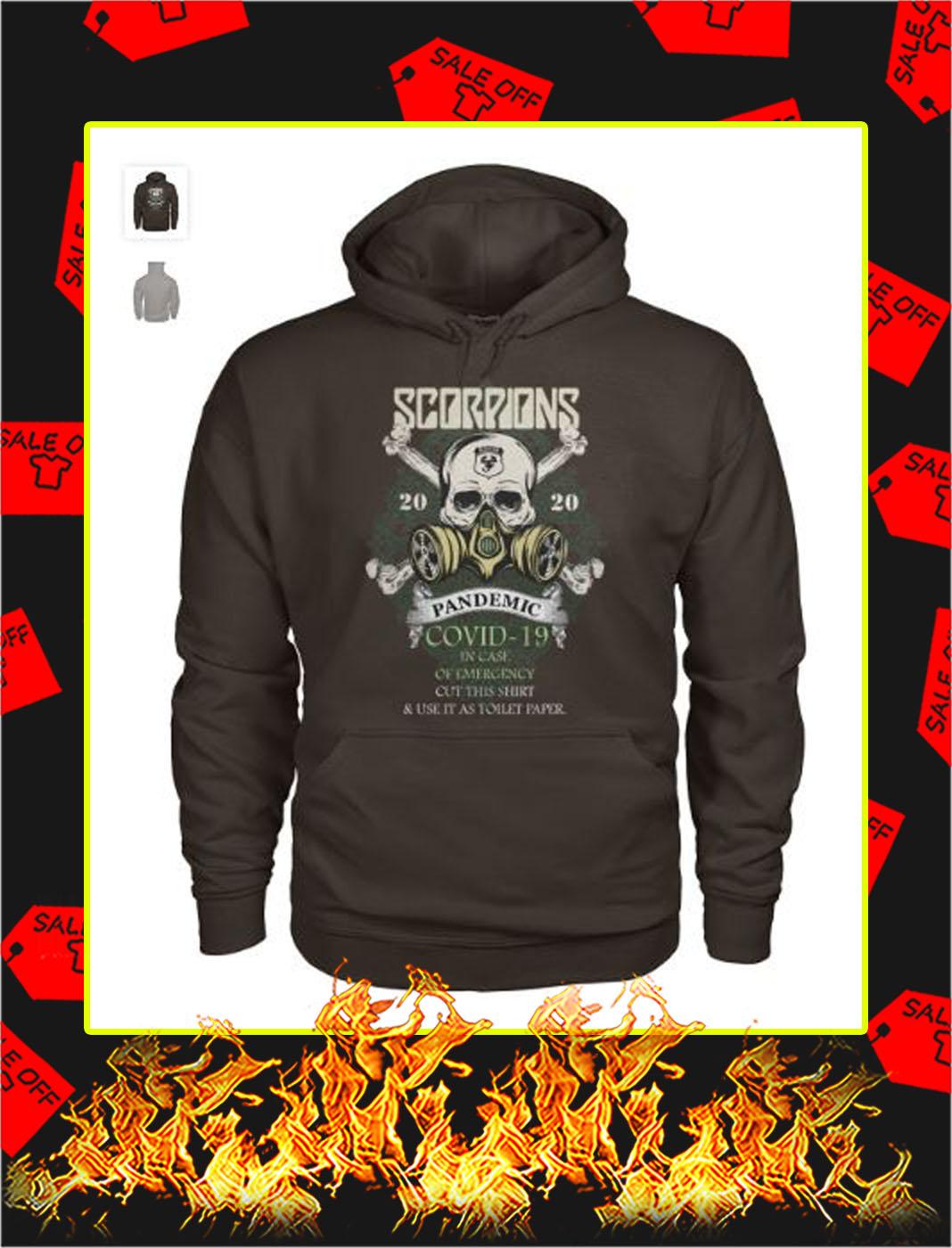 Scorpions 2020 pandemic covid 19 skull hoodie