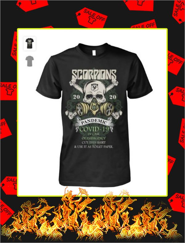 Scorpions 2020 pandemic covid 19 skull shirt