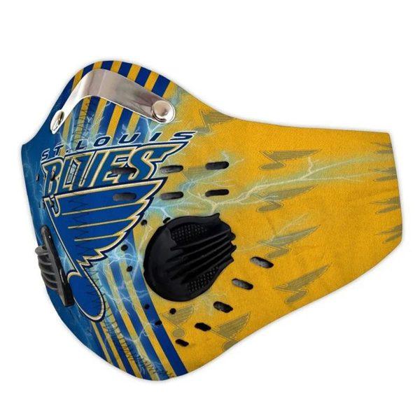St louis blues filter face mask